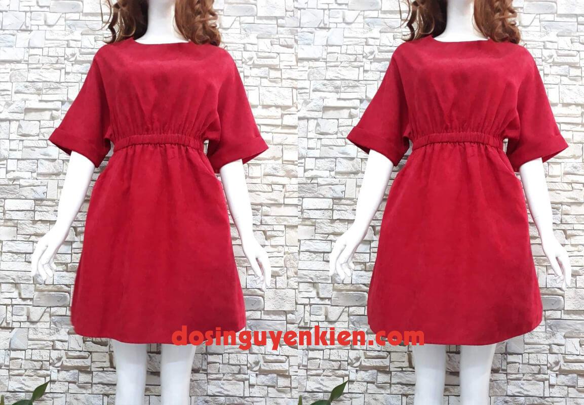 Đầm nhung đỏ