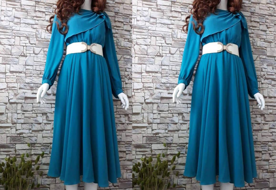 Váy dài xanh
