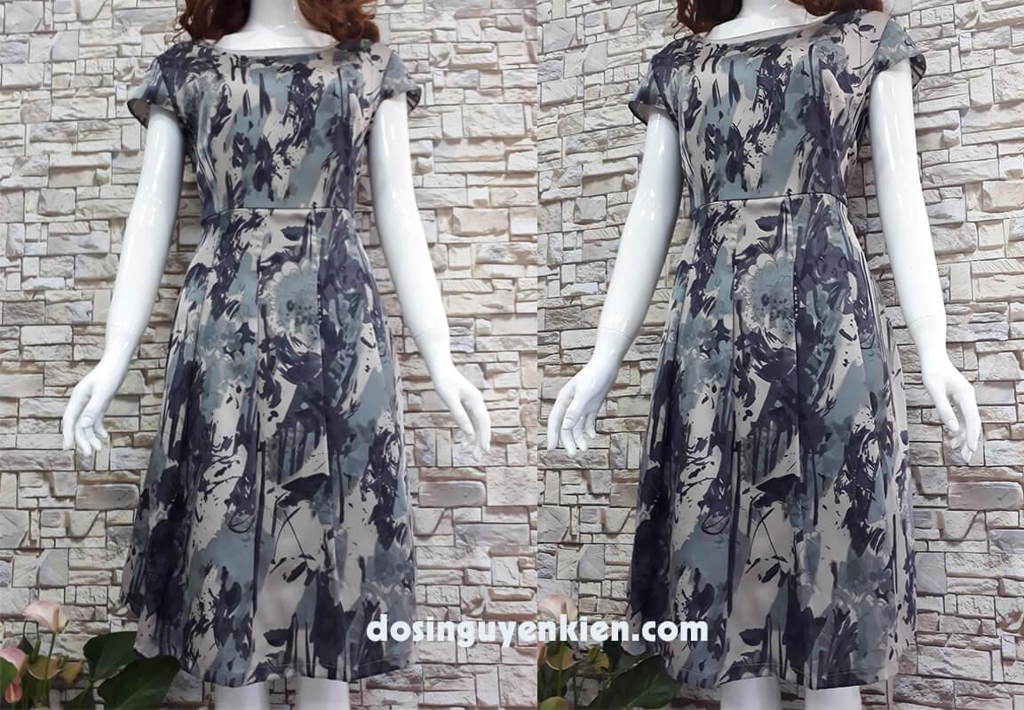 Đầm si họa tiết giá rẻ