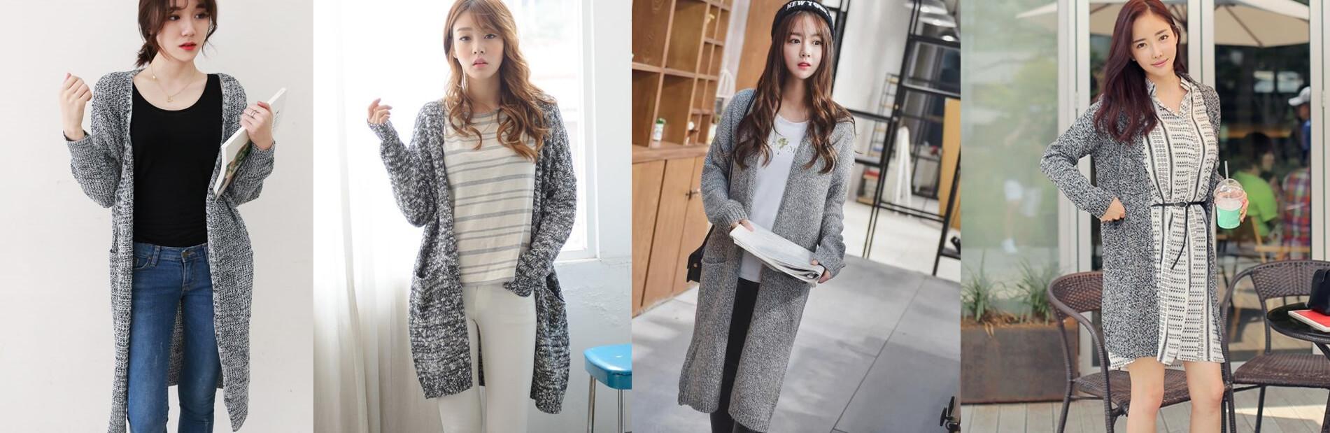 Áo khoác len nữ dáng dài