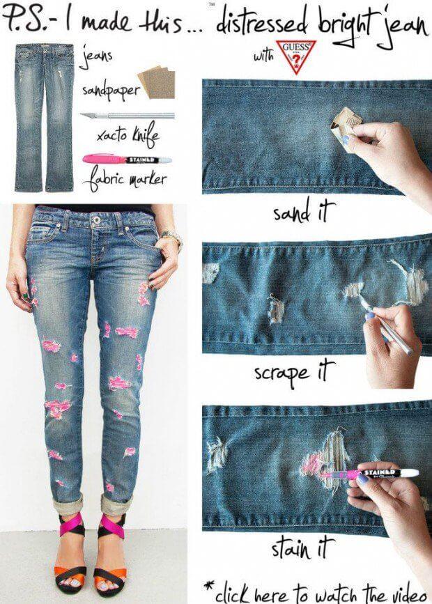 Cách tái chế quần áo cũ không đụng hàng