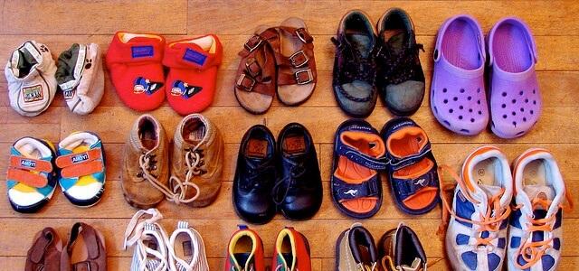 Hàng thùng trẻ em - kiện giầy tổng hợp