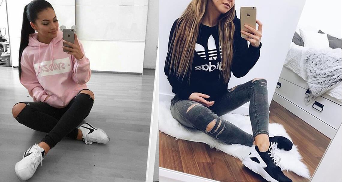 Set đồ phối hoodie nữ