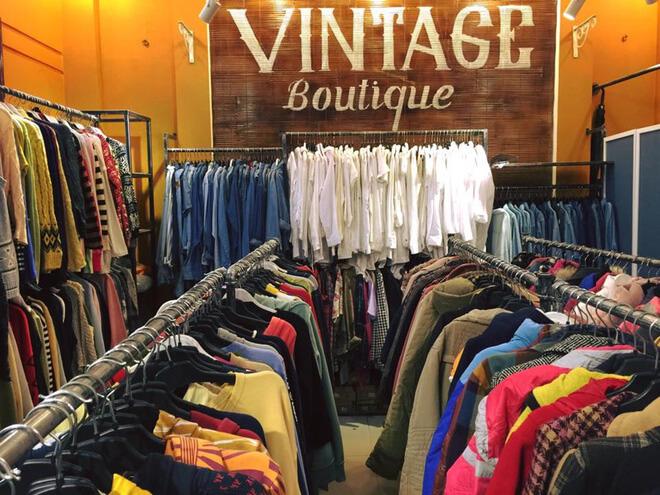 Quần áo 2hand tại shop vintage