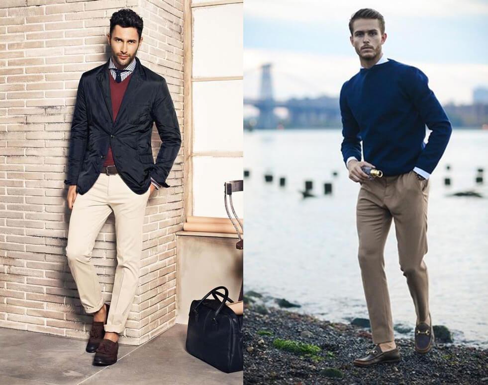 Sweater, sơ mi, cà vạt và quần kaki (Nguồn hình: Google)