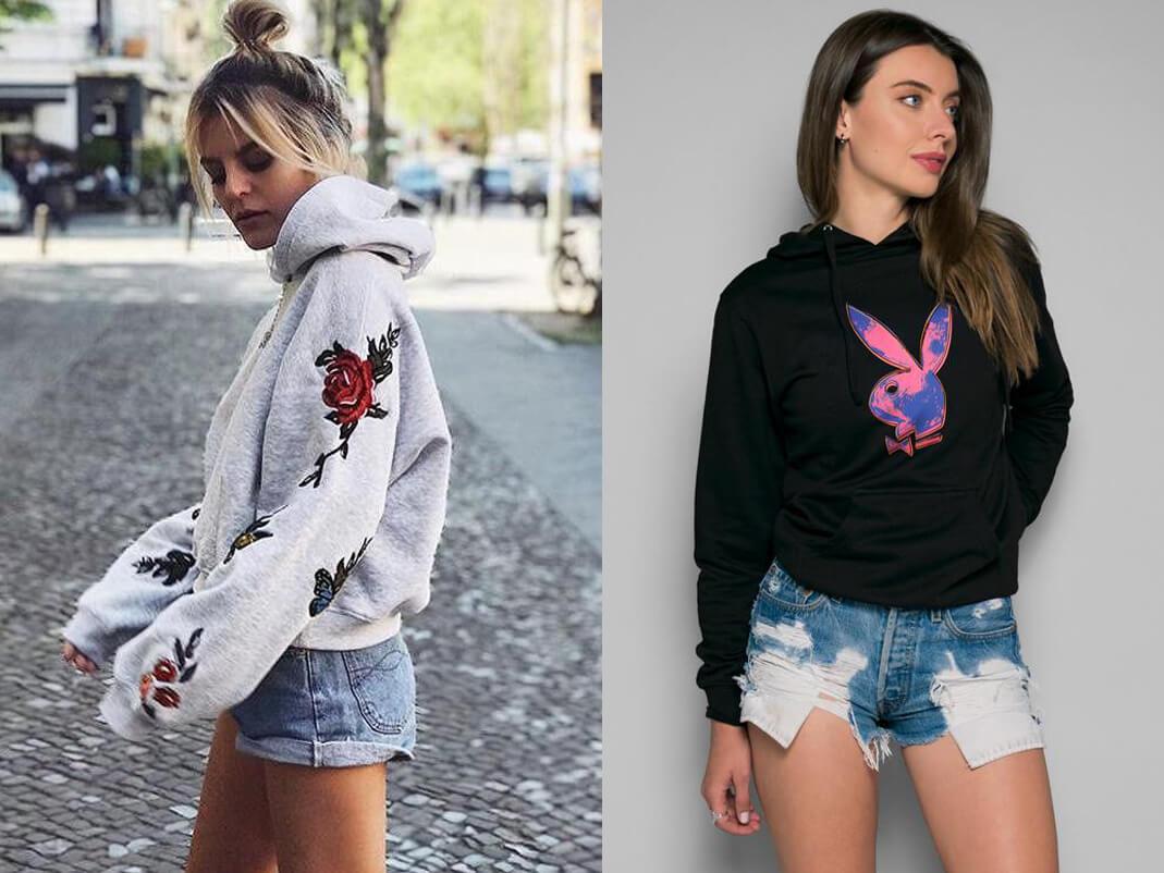 Hoodie nữ và Short Jeans (Nguồn hình: Google)