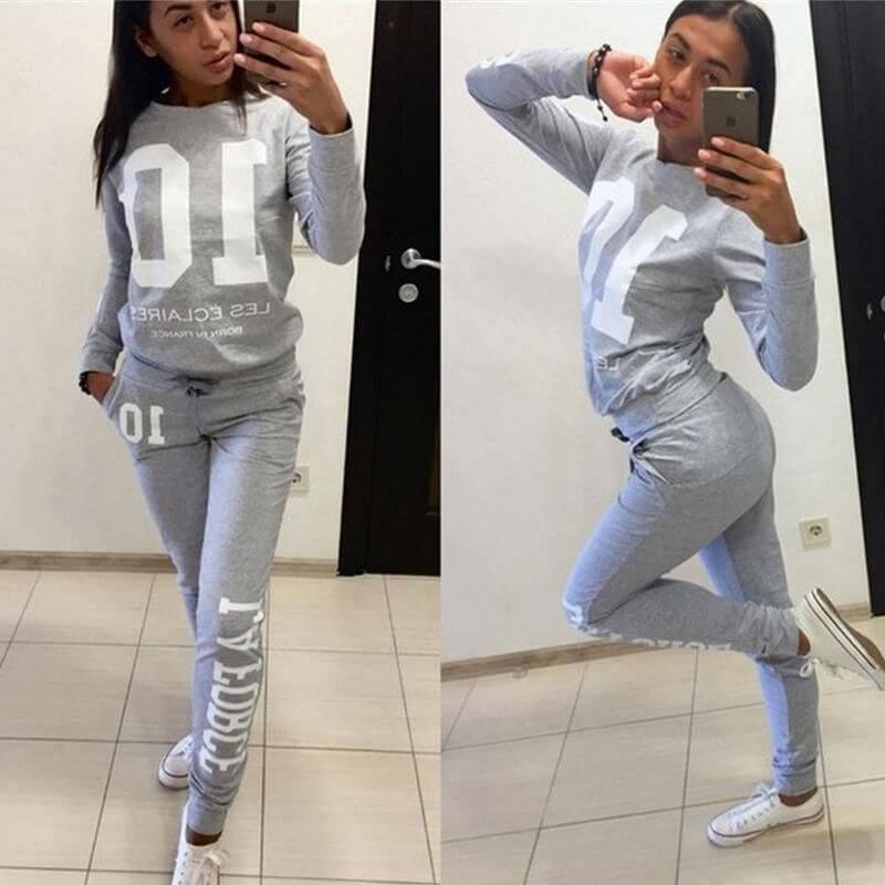Sweater nữ phối quần Jogger (Nguồn hình: google)