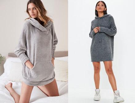 """Mốt hoodie nữ """"không quần"""" (Nguồn hình: Google)"""