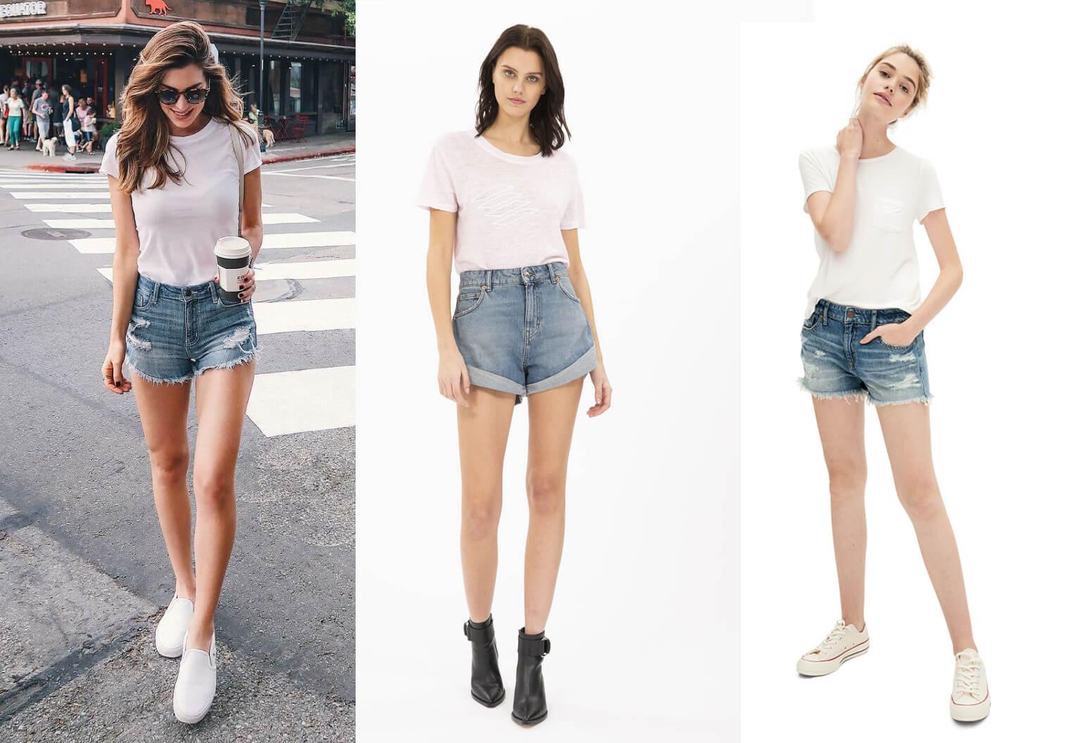 Áo thun vs short jean - Phối đồ mùa hè nữ