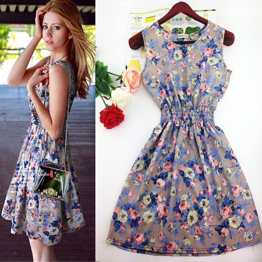 Set váy bông mùa hè