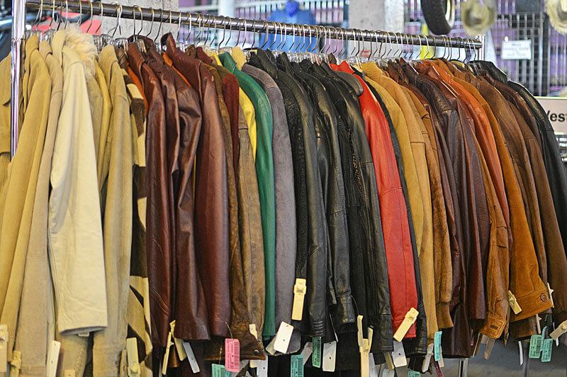 áo khoác da hàng thùng - hàng secondhand