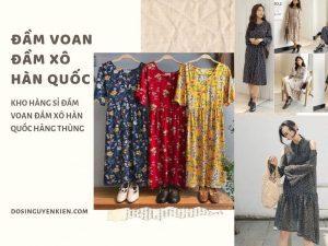 Đầm voan Đầm xô Hàn Quốc