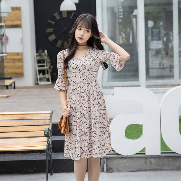 Váy vintage suông