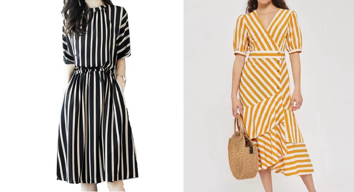 Váy sọc dọc vintage