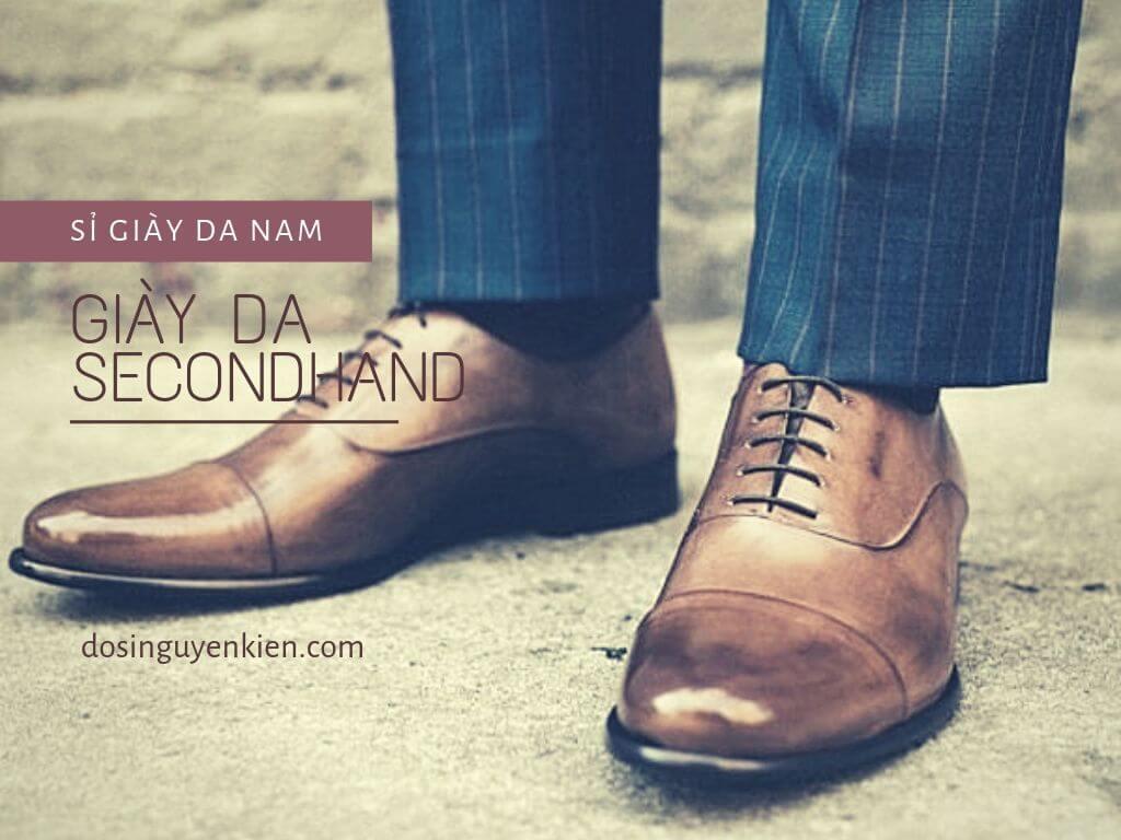 Sỉ giày da nam secondhand