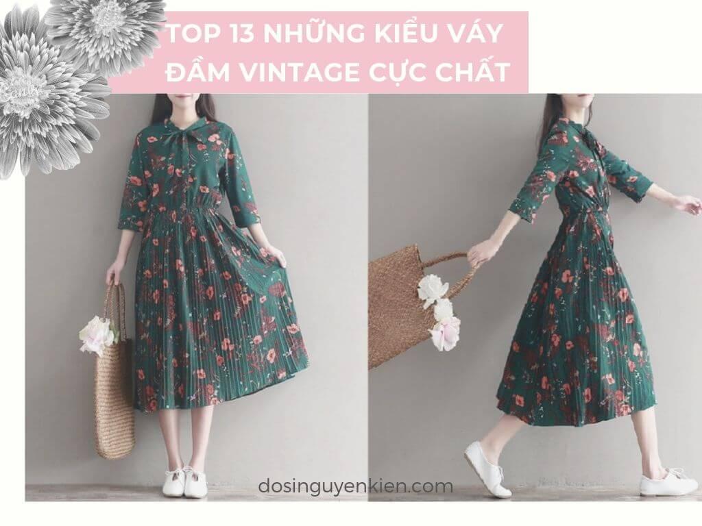 Top 13 những kiểu Váy – Đầm vintage cực chất - Hình Canva