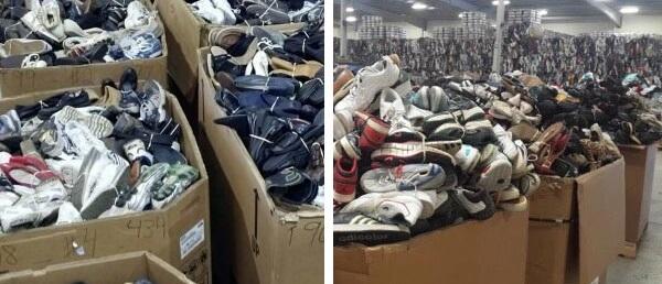 Giày secondhand chọn lọc đóng thùng