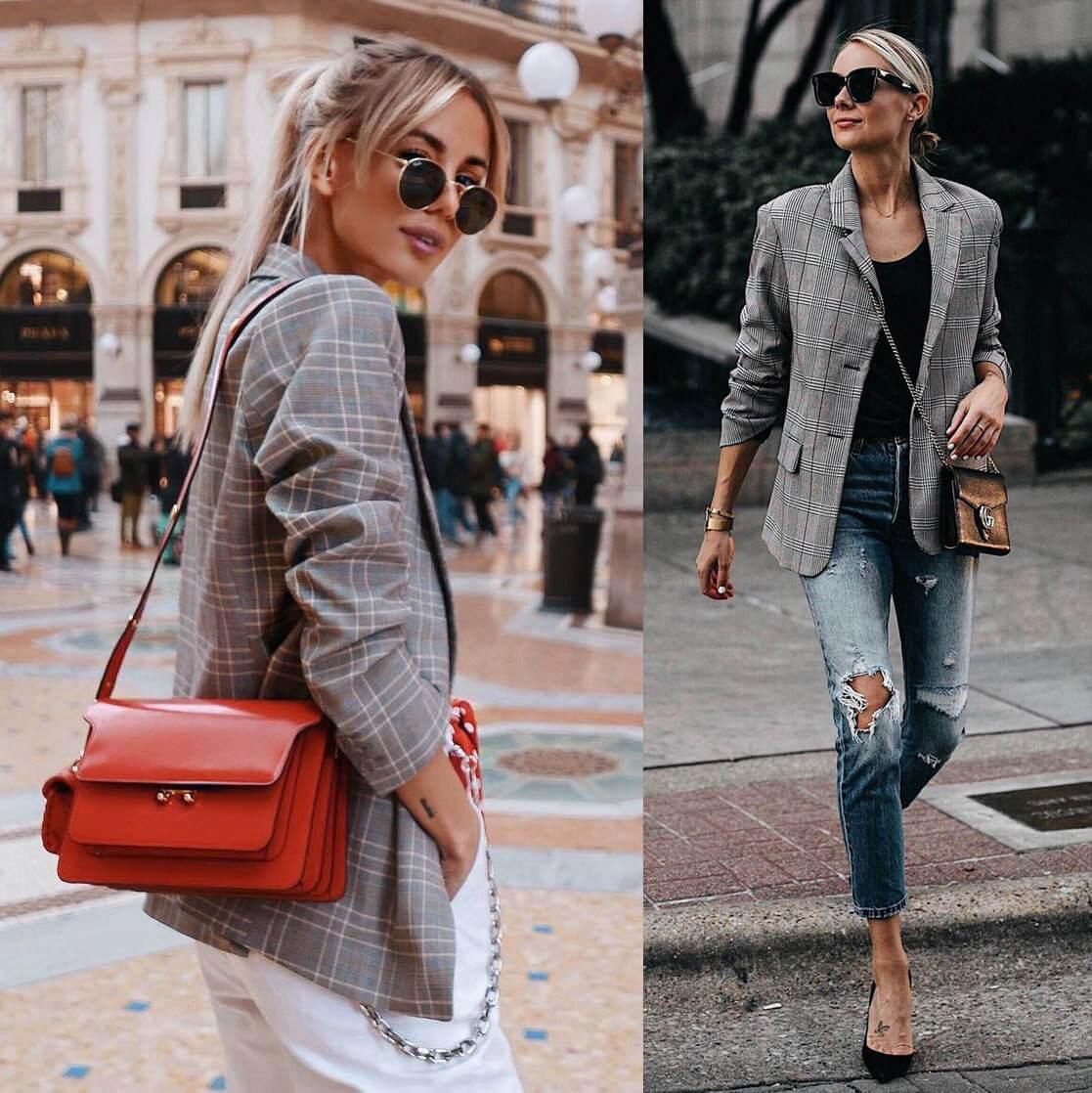 Kết hợp cùng set blazer nữ