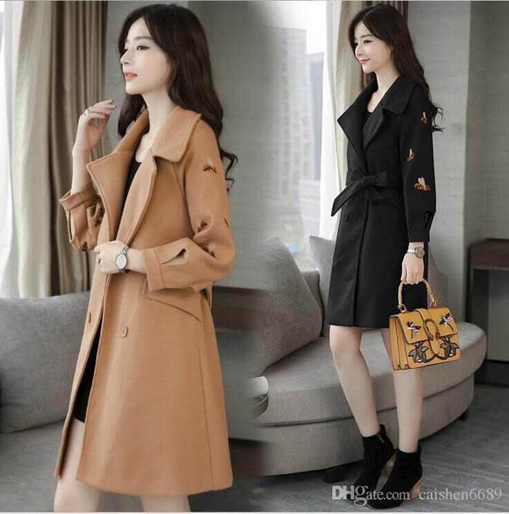 Kiểu áo khoác dạ hàng thùng Hàn Quốc