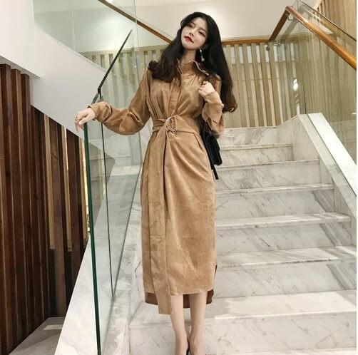 Đầm vintage Hàn Quốc