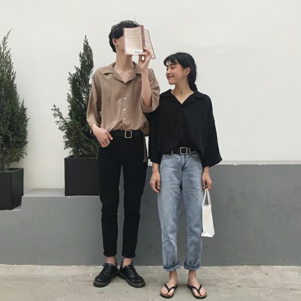 áo sơ mi unisex nam nữ