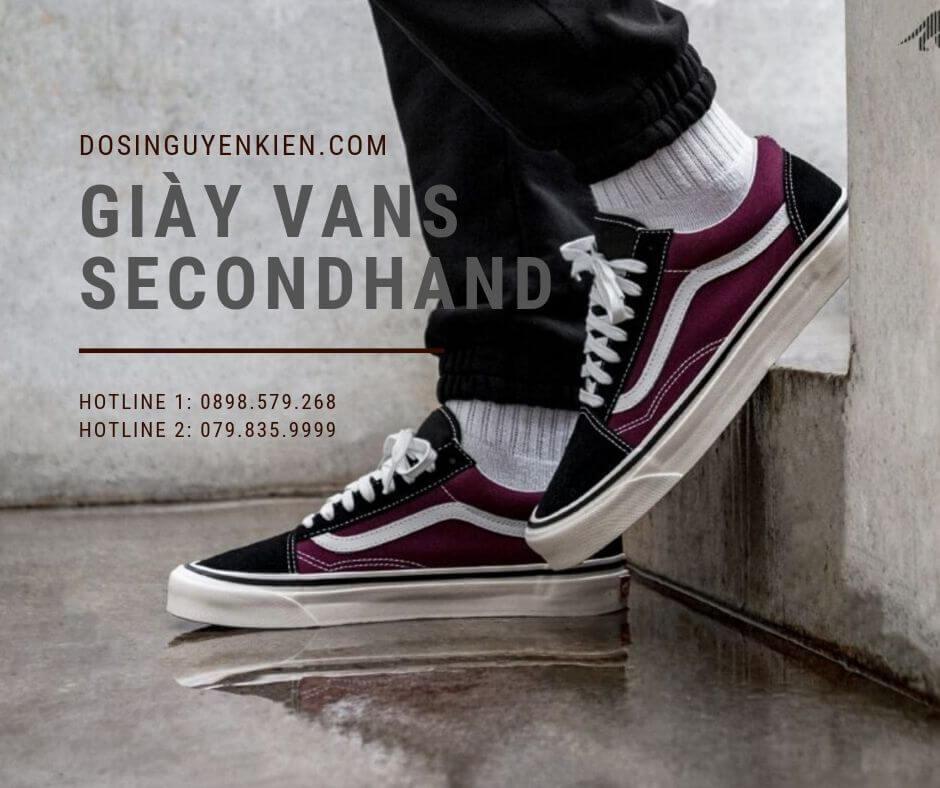 Giày vans secondhand hay gọi là giày vans cũ
