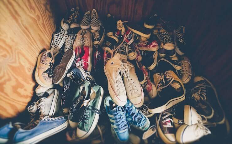 Giày vans, converse cũ