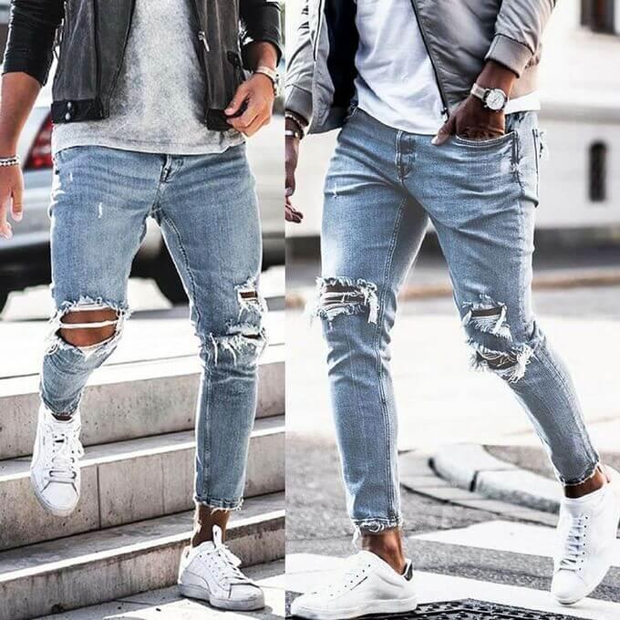 Jeans rách cá tính