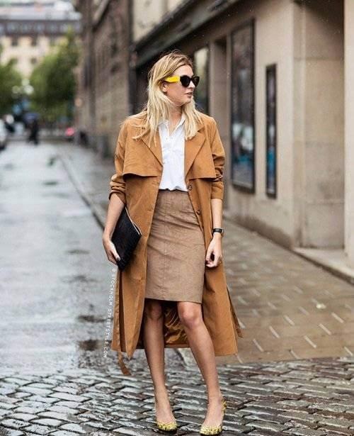 Cách phối đồ mùa đông cho nữ với chân váy