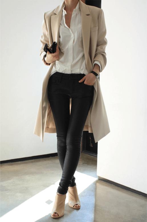 Phối áo khoác dáng dài