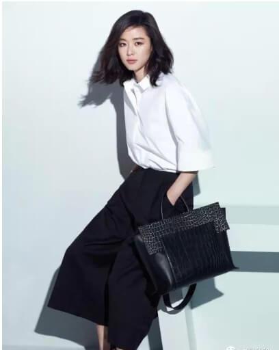 Jeon Ji Hyun style với quần culottes