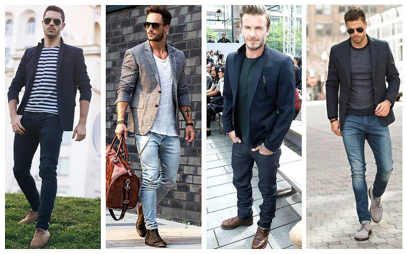 cách phối đồ với áo blazer nam + áo thun