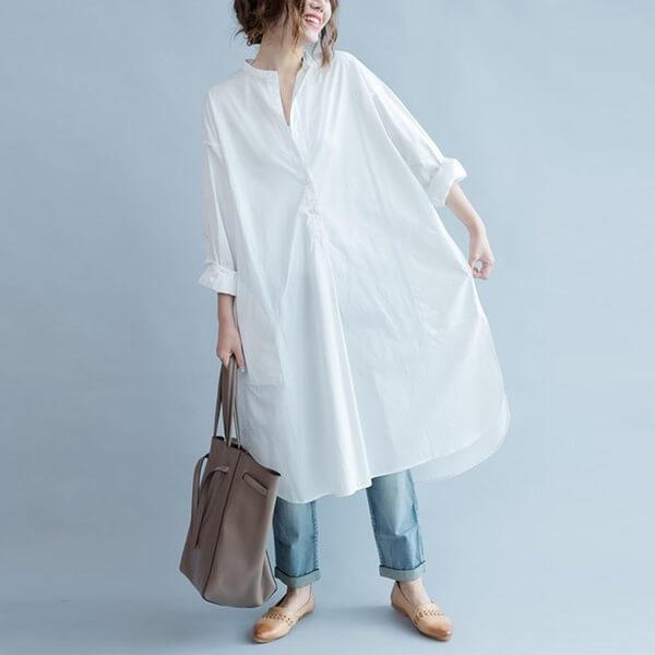 Cách phối baggy với blouse cách điệu