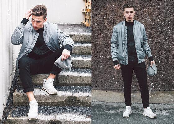 Cách phối đồ với quần chinos nam + áo bomber