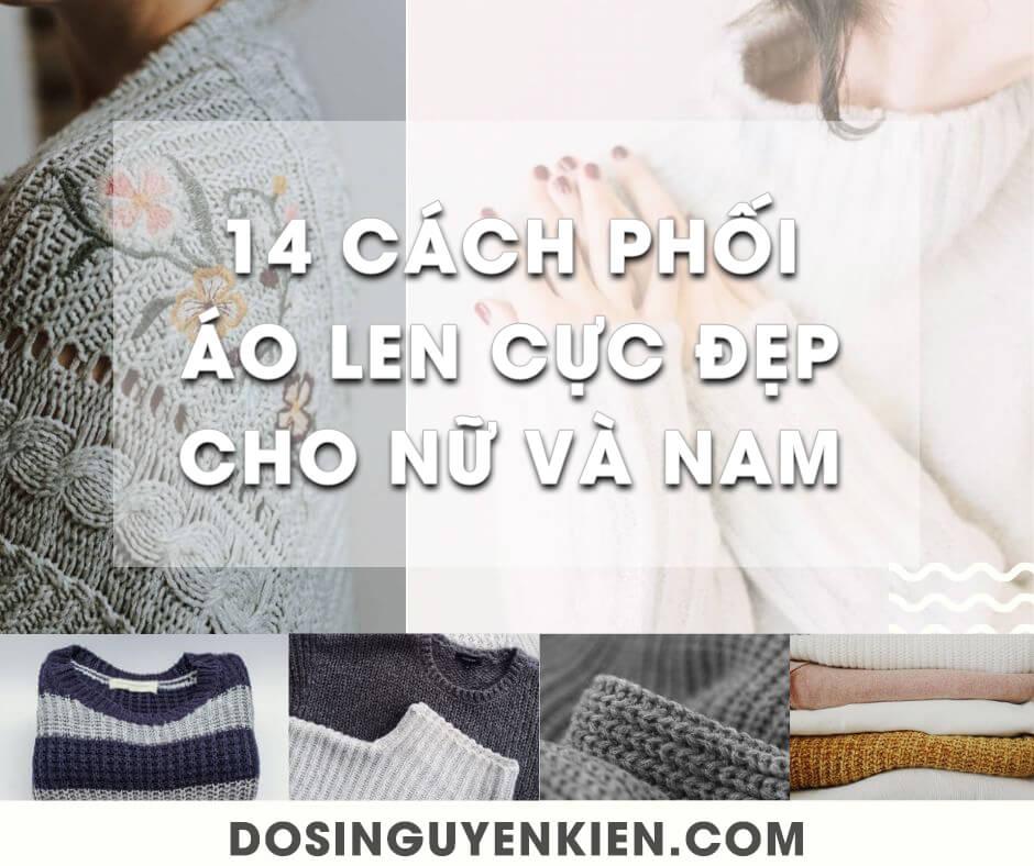 14 Cách phối đồ với áo len nam nữ cực đẹp