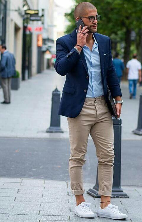 Chinos + blazer