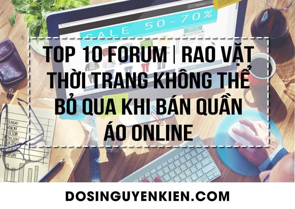 top 10 forum rao vat thời trang