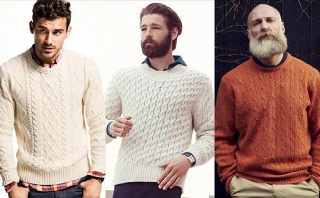 Cách phối đồ với áo len aran + Sơ mi