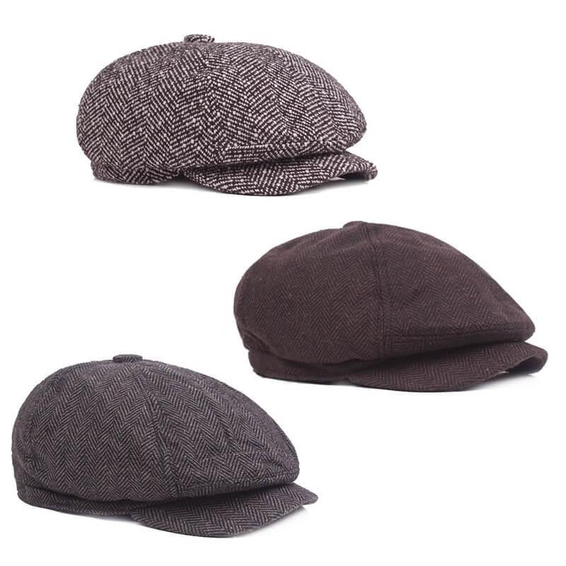 Nón beret với chất liệu vải thô