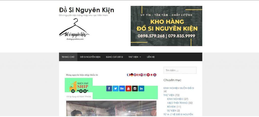 Hình ảnh từ website dosinguyenkien.com Kho xưởng lấy sỉ đầm váy đồ si