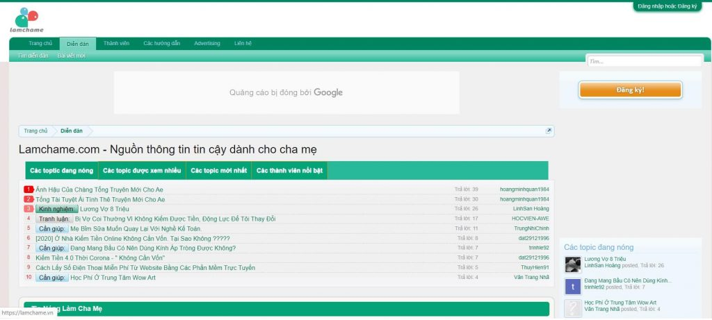 forum lamchame.com