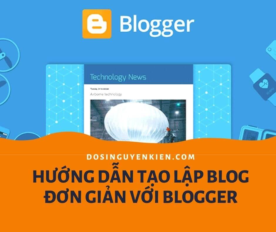 Hướng dẫn tạo blogger để kinh doanh