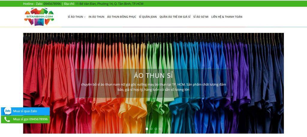 Hình ảnh của website sitanbinh.com| Lấy sỉ áo sơ mi nam nữ