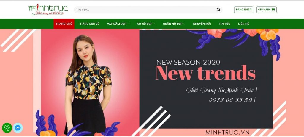 Hình ảnh Kho xưởng lấy sỉ đầm váy của website minhtruc.vn
