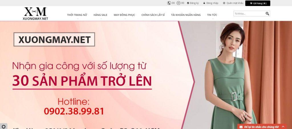 Hình ảnh của website xuongmay.net xưởng lấy sỉ áo sơ mi nữ