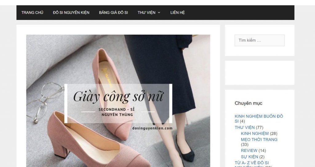 Kho hàng dosinguyenkien.com | Nguồn lấy sỉ giày nữ hàng thùng hàng hiệu cao cấp