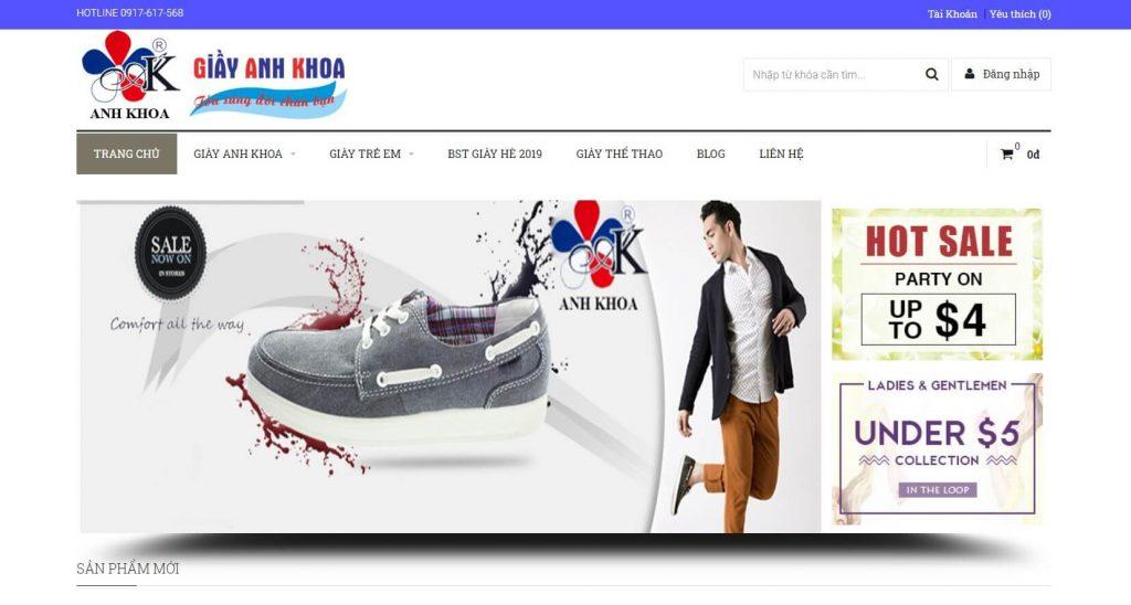 Hình ảnh của webiste giaythoitranganhkhoa.com | Nguồn lấy sỉ giày nữ