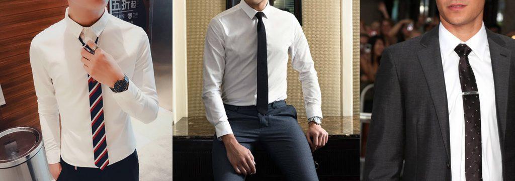 Những chiếc cà vạt bản nhỏ tối màu giúp những bạn nam gầy, thấp trông cân đối hơn | Cách phối đồ cho nam gầy ốm