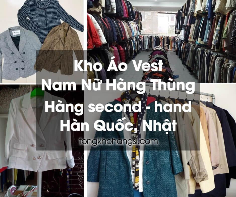 Kho hàng áo vest hàng thùng