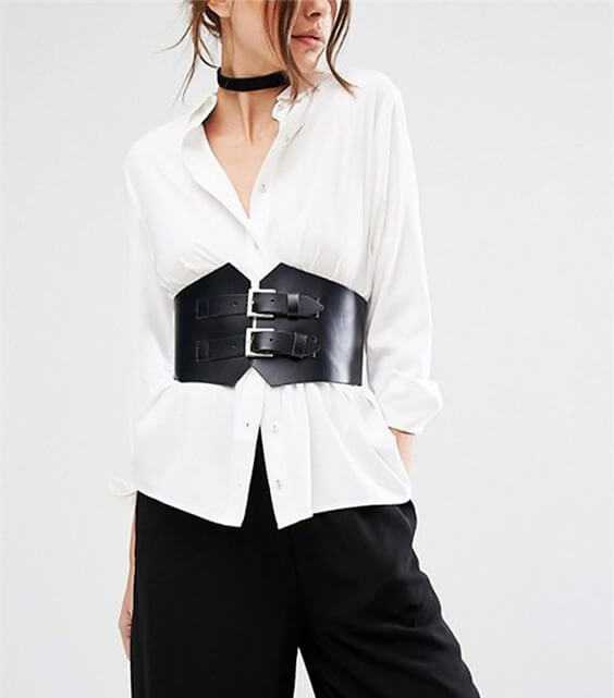 Nữ cao 1m60 nên mặc gì? that lung corset ket hop voi ao somi